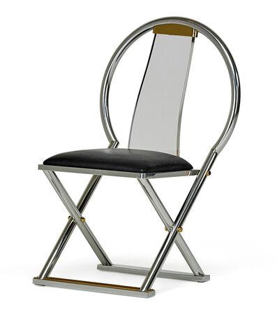 Karl Springer, 'X-Base chair, New York', 1980s