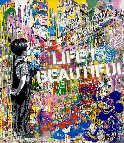 Mr. Brainwash, 'With All My Love (Neon)', 2020