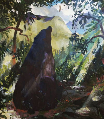 Johnny DeFeo, 'Bear Watching Hawk, Considering the Highs and Lows of Trading Fur for Feathers', 2020