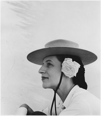 Louise Dahl-Wolfe, 'Diana Vreeland with Hat and Rose', 1942