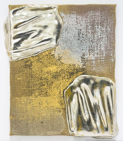 Nancy Lorenz, 'Palladium on Burlap', 2014