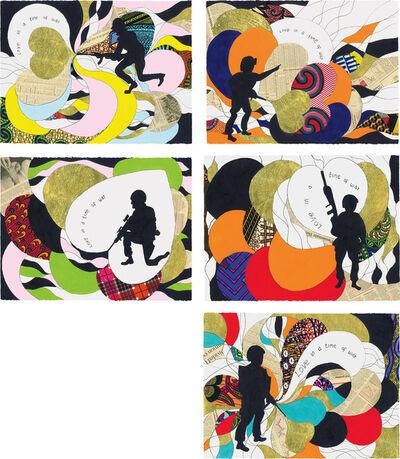 Yinka Shonibare CBE, 'Five works: (i) Love In a Time of War I; (ii) Love In a Time of War II; (iii) Love In a Time of War III; (iv) Love In a Time of War IV; (v) Love In a Time of War V', 2015