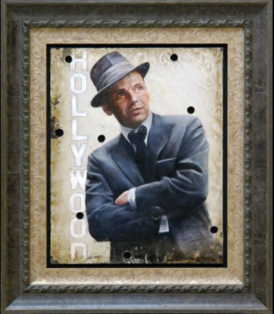 Bill Mack, 'Bill Mack My Way—Frank Sinatra Original Hollywood Sign Mixed Media Unique Print Contemporary Art ', 1980-2010
