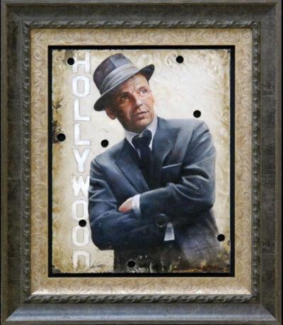 Bill Mack, 'Bill Mack My Way—Frank Sinatra Original Hollywood Sign Mixed Media Unique Print Contemporary Art ', 1980-2010