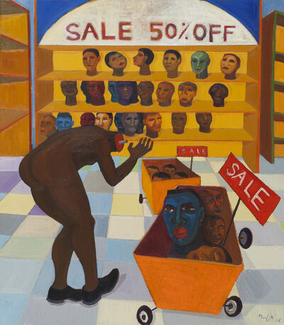 Richard Mudariki, 'Head Sale 50% Off', 2016