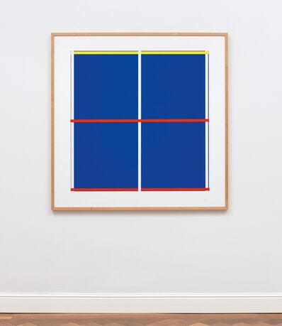 Imi Knoebel, 'Blau mit Kreuz', 1992