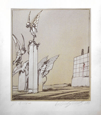Lebbeus Woods, 'Untitled, from the Architecture Sculpture Painting series', 1978