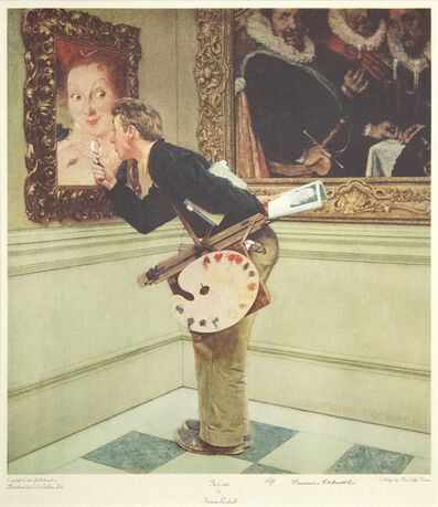 Norman Rockwell, 'The Art Critic'