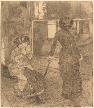 Edgar Degas, 'Mary Cassatt at the Louvre: The Etruscan Gallery (Au Louvre: Musée des antiques)', ca. 1879/1880