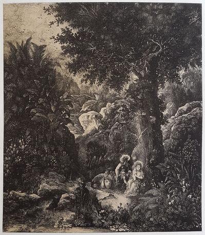 Rodolphe Bresdin, 'Le Repos en Égypte à l'âne bâté', 1871