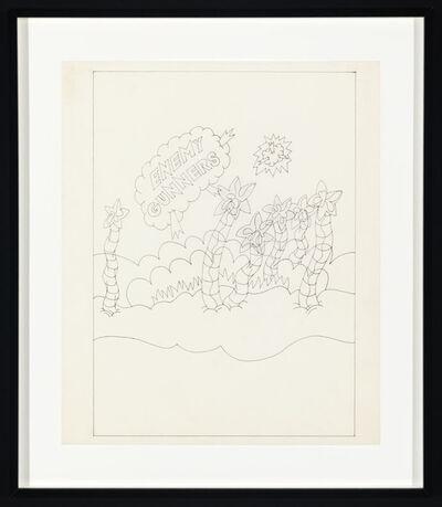 Ed Flood, 'Sketch for Enemy Gunners', 1969