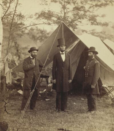 Alexander Gardner, 'President Lincoln, United States Headquarters, Army of the Potomac, near Antietam', 1862