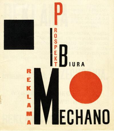 Henryk Berlewi, 'Reklama Mechano', 1924