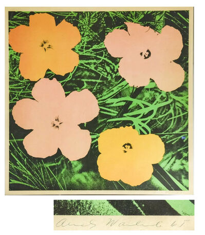 "Andy Warhol, '""FLOWERS"" (F. & S. II.6), Offset Lithograph, Signed/Dated, Edition of 300, Leo Castelli Gallery NYC.', 1965"