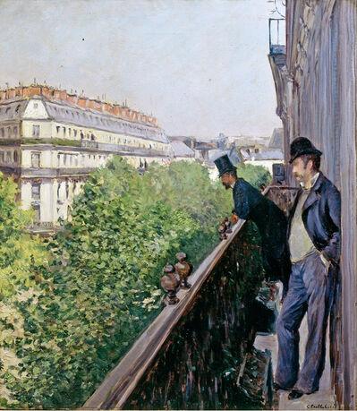 Gustave Caillebotte, 'Balcony, Boulevard Haussmann', 1880