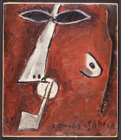 Joaquín Torres-García, 'Mascara con pipa, Paris', 1928