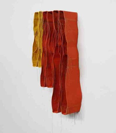 Simon Callery, '3 Step Yellow and Orange Wallspine', 2018