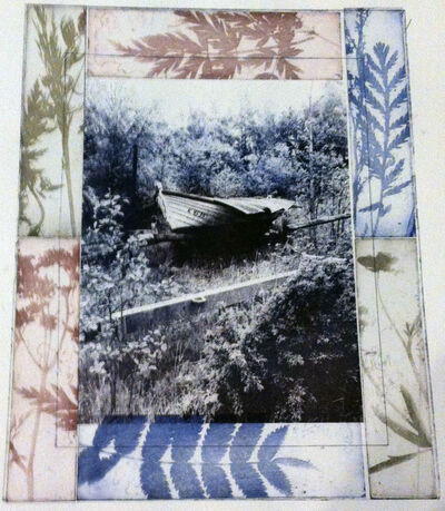 Gillian Pokalo, 'Lapaluoto covered boat with Flora', 2014