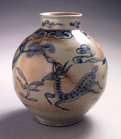 'Jar with Longevity Motifs: Deer, Pine and Lingzhi', 1392