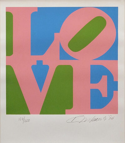 Robert Indiana, 'LOVE (G/P/B)', 1996
