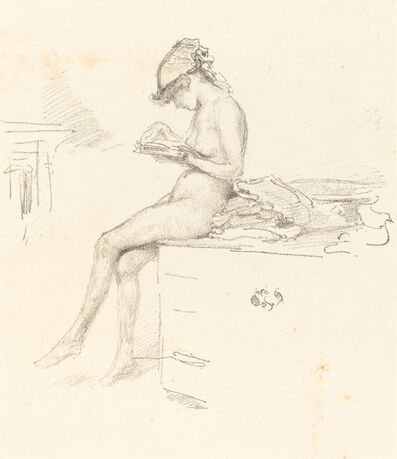 James Abbott McNeill Whistler, 'The Little Nude Model Reading', 1890