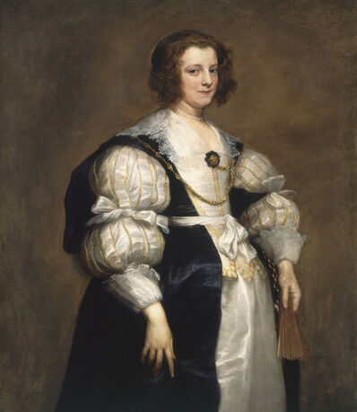 Anthony van Dyck, 'Lady with a Fan', ca. 1628