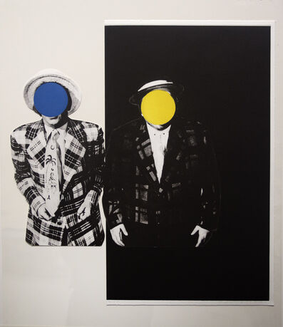 John Baldessari, 'Blue Boy (with Yellow Boy: One with Hawaiian Tie, One in Dark)', 1989