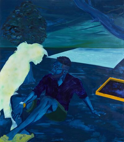 Dominic Chambers, 'Life is Elsewhere (Max in Blue)', 2019