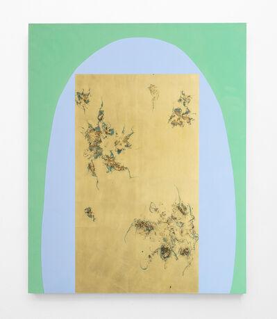 Pierre Vermeulen, 'Hair orchid sweat print cyan shape with verdigris', 2020