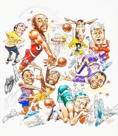 Jack Davis, 'Basketball Superstars Comic Illustration; Original Art ', 1980-1989