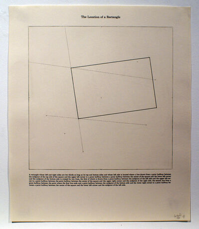 Sol LeWitt, 'The Location of a Rectangle', 1975