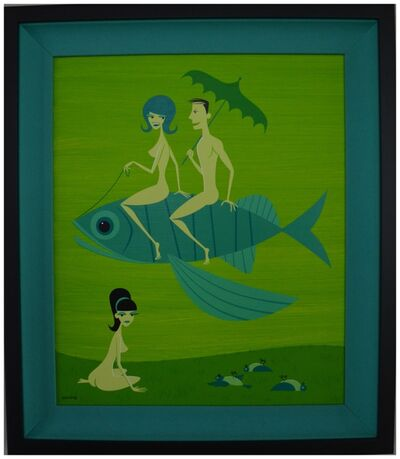 Josh Agle (Shag), 'The Flight of the Fish', 2007