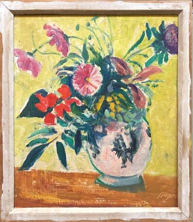 Frederick B. Serger, 'French Fauvist Floral Oil Painting', 1940-1949