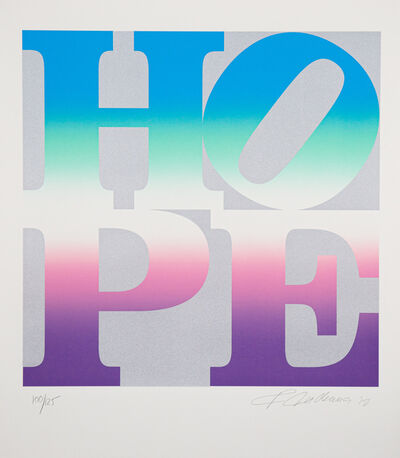 Robert Indiana, 'Four Seasons of Hope: A Classic Suite of Interpretive Silkscreen Prints - Silver 100/125', 2012