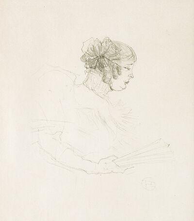 Henri de Toulouse-Lautrec, 'Luce Myrès, de profil', 1895