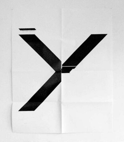 Wade Guyton, 'X Poster (Untitled, 2007, Epson UltraChrome inkjet on linen, 84 x 69 inches, WG1211)', 2019