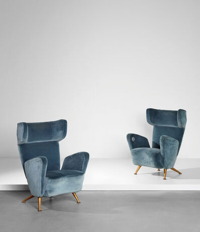 Gio Ponti, 'Pair of armchairs, from the First-Class carriages of the 'Settebello' ETR 300 train', ca. 1952