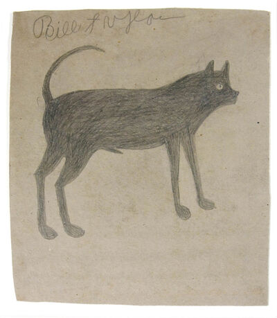 Bill Traylor, 'Sickle-tail Dog'