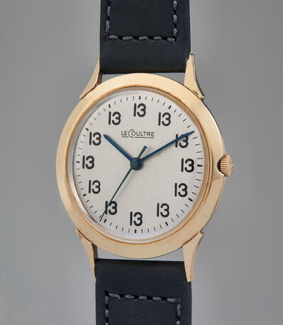 "Jaeger LeCoultre, 'A unique, historically important, and unusual gold-filled time-only wristwatch with center seconds and ""Lucky 13"" dial', 1962"