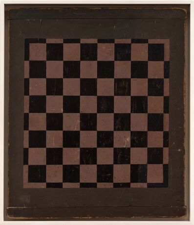 Unknown Artist, 'Checkers Game Board', 1900-1920