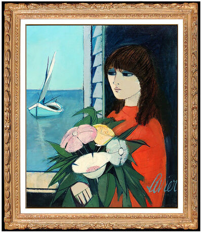 Charles Levier, 'Charles Levier Original Oil Painting On Canvas Signed Portrait Seascape Artwork', 20th Century
