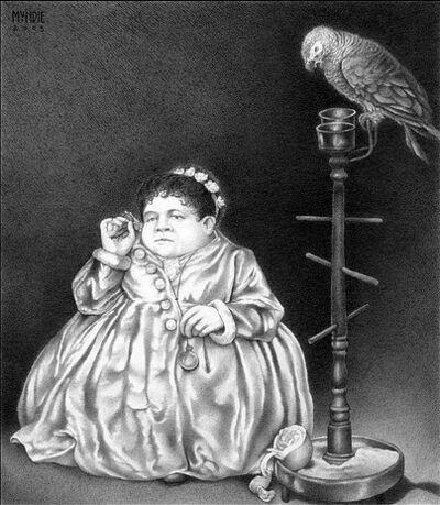 James Mundie, 'Midget Fat Lady With A Parrot'