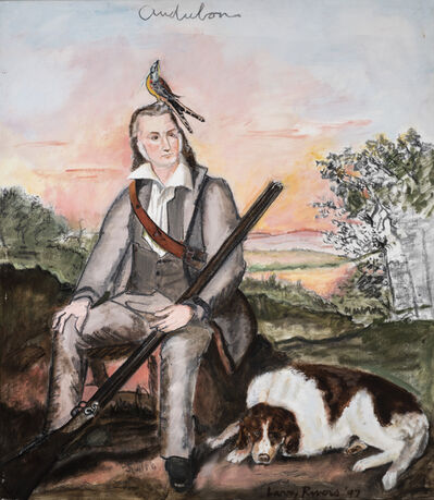 Larry Rivers, 'Portrait of James Audubon', 1997