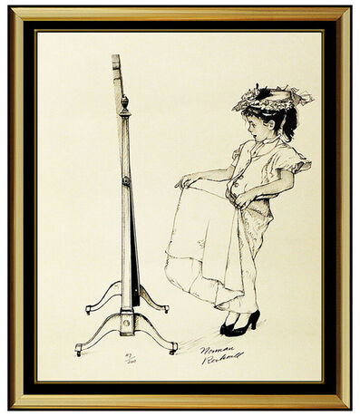 Norman Rockwell, 'Norman Rockwell Dressing Up Lithograph Hand Signed Original Illustration Artwork', 20th Century