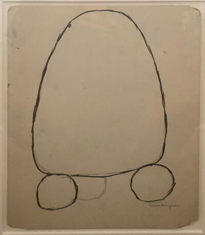Louise Bourgeois, 'Untitled (Double-sided ink on board)', 1951/1968