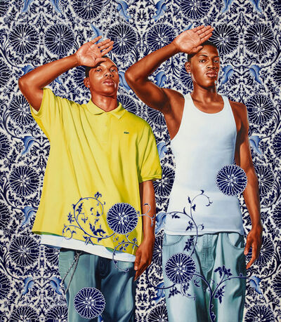Kehinde Wiley, 'Two Heroic Sisters of the Grassland', 2011