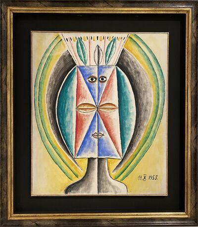 Victor Brauner, 'Téte de femme feuille', 1955
