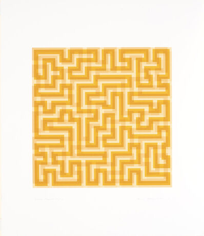 Anni Albers, 'Orange Meander', 1970