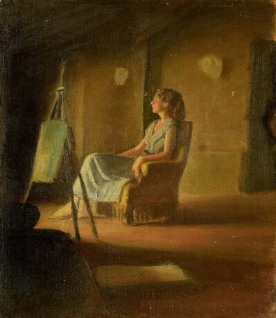 Unknown Italian, 'Girl on the Armchair', 1950s