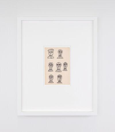 Christina Ramberg, 'Untitled (7 heads)', 1972